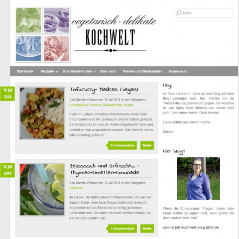 Die vegetarisch – delikate Kochwelt